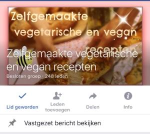 Plantaardige Facebook groep