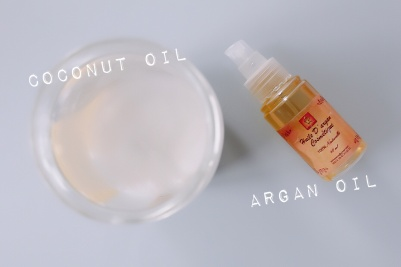 Argan oil coconut oil