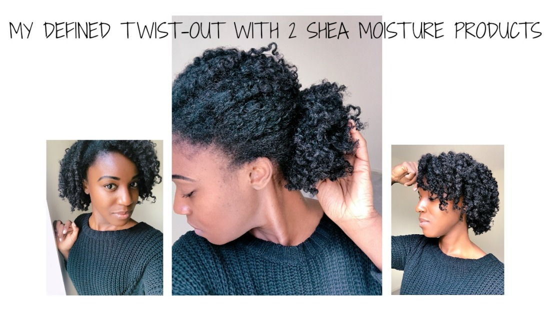 Quick defined twist out with Shea Moistureproducts