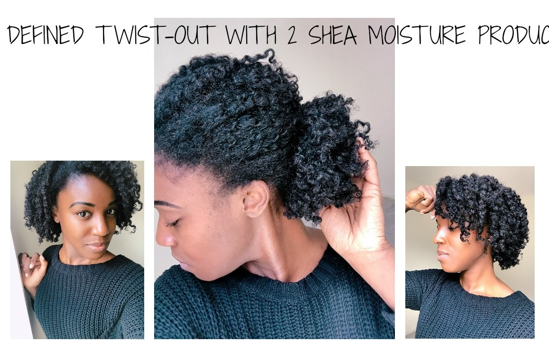 Quick defined twist out with Shea Moisture products