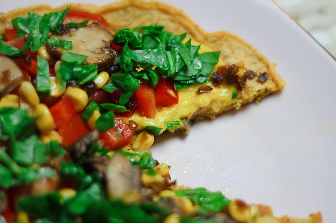 Raw vegan food challenge Day 1 (Vegan omelet)