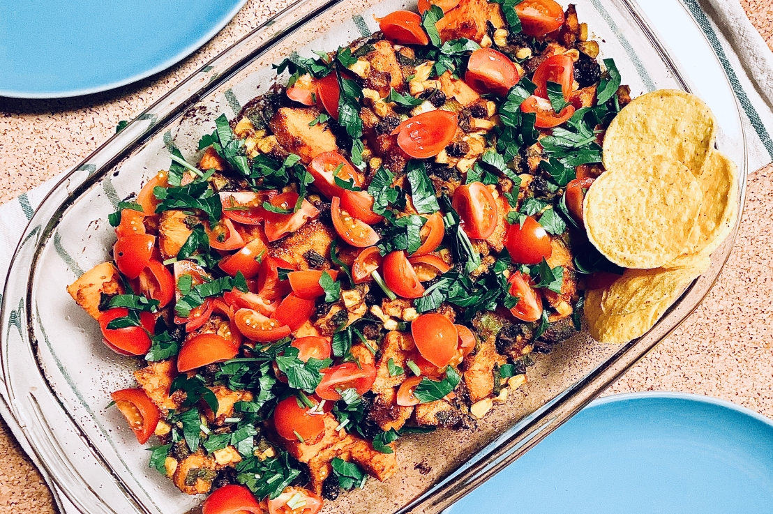 Sweet potato beans casserole